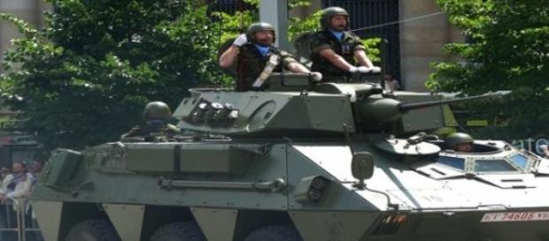 Vehículo militar del Ejército español.