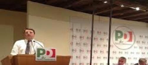 Il premier  Matteo Renzi alla Direzione del PD.