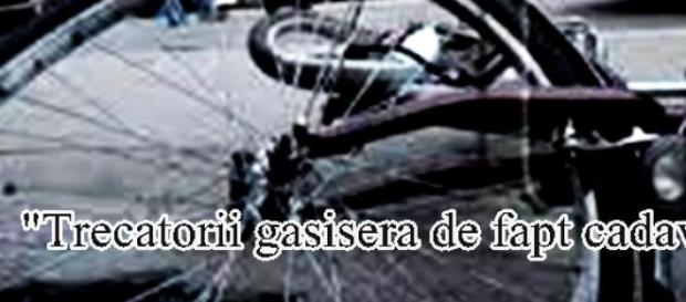 Biciclistul a fost ucis pe loc