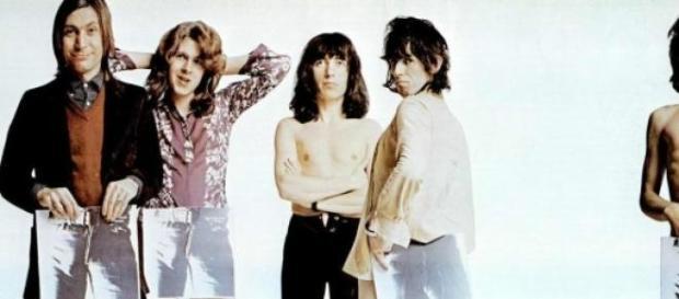 Os Rolling Stones em 1971, no lançamento