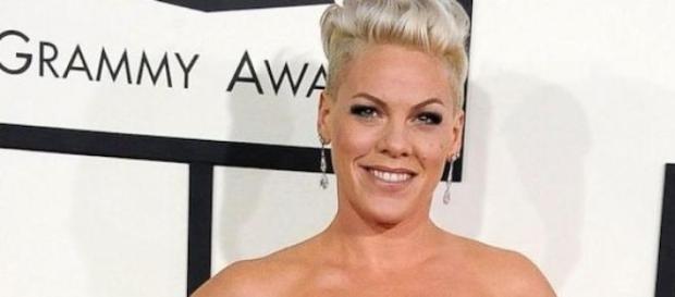 Pink à la cérémonie Grammy Awards en janvier 2014.