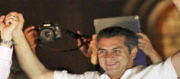"""""""El Bronco"""" festeja en Nueva León (Foto:Reuters)"""