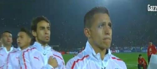 Alexis Sanchez con la Nazionale cilena