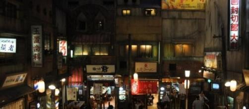 Representación de locales callejeros de ramen