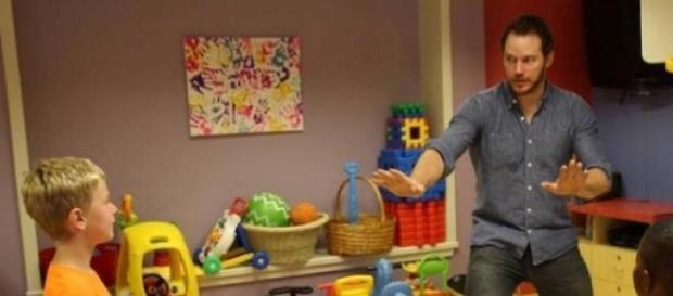 Chris Pratt ha hecho mimo a los niños enfermos