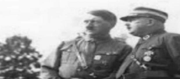 Hitler y Röhm, líderes nazis en los años 30s