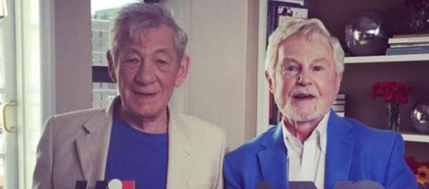 McKellen y Jacobi. Foto publicada por @PBS