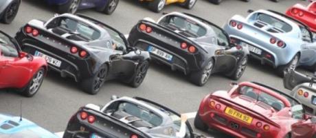 quelques Lotus sur l'autodrome de Montlhéry