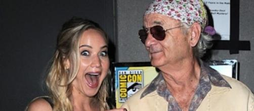 Jennifer Lawrence al conocer a Bill Murray