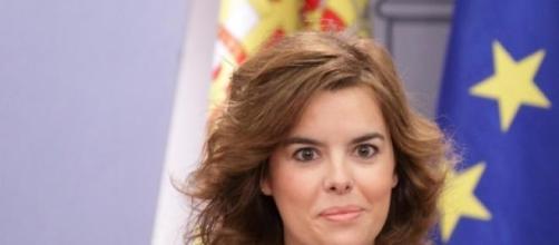 La vicepresidenta Soraya Saenz de Santa María