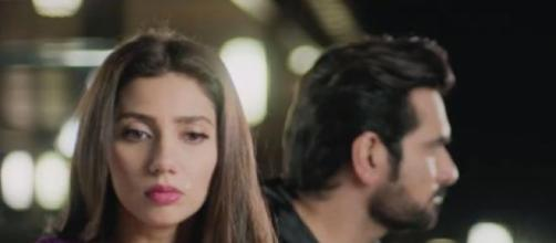 Mahira Khan and Humayun Saeed in 'Bin Roye'