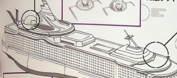 Imagen del barco de Bulma