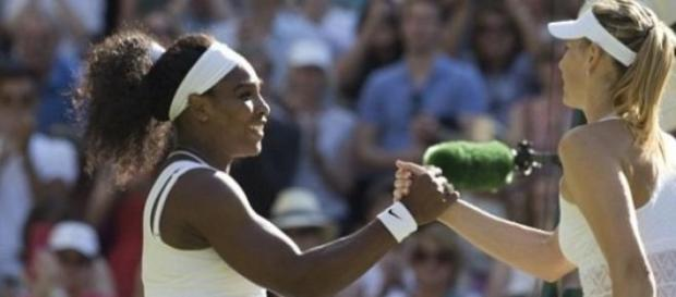 Serena Williams e Sharapova no fim da meia-final