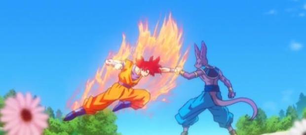 Goku Vs Bills en la pelicula