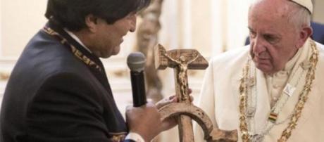 El regalo de Evo Morales al Papa Francisco