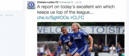 Chelsea Ladies FC celebrated their win on Twitter.
