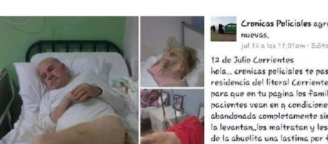 Maltratan ancianos en una residencia: el Ministerio se entera por Facebook