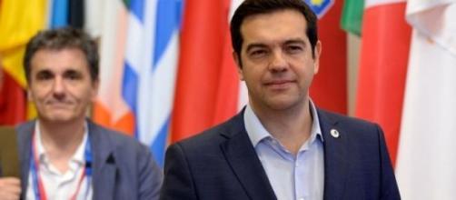 Alexis Tsipras et Euclide Tsakalotos : Eurogroupe