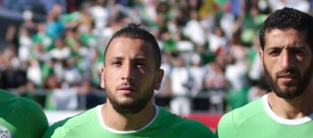 Nabil Ghilas con su selección