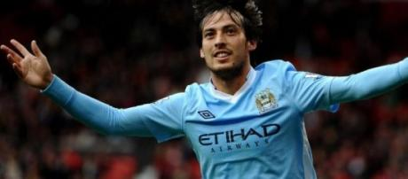 David Silva, centrocampista del City