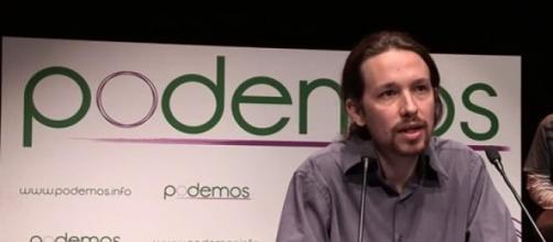Pablo Iglesías, durante su discurso