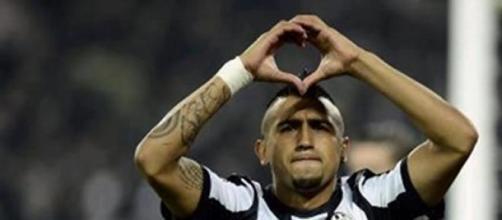 Il centrocampista cileno Arturo Vidal
