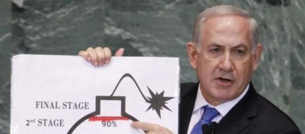 Israeli Prime Minister Benjamin Natayahu at the UN
