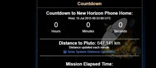 """Momento de la """"llamada a casa"""" de la New Horizons"""