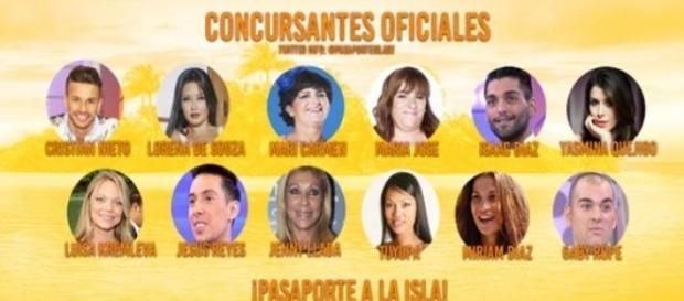 Concursantes oficiales de 'Pasaporte a la isla'