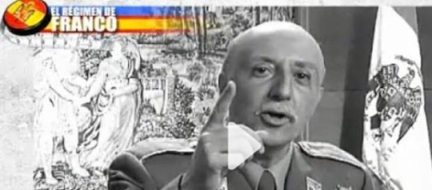 """Franco parodiado en el programa """"Polònia"""" de TV3."""