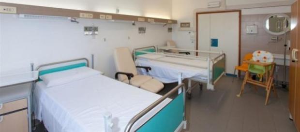 La stanza di un ospedale pediatrico