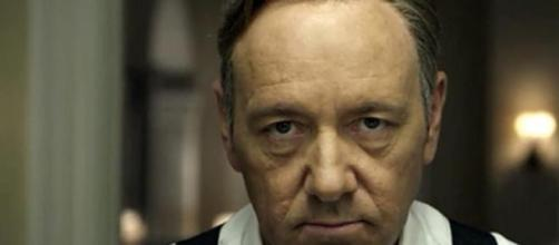 Kevin Spacey in una delle scene di House of Cards