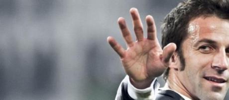 Del Piero con la maglia della Juve