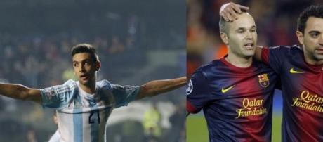 Pastore, ¿se parece a Iniesta y Xavi en el juego?.