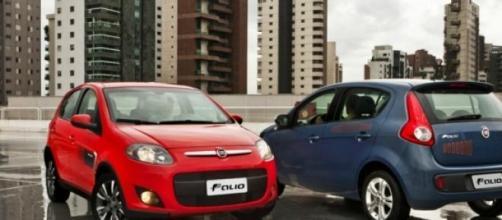 Fiat Palio, que segue como o líder nacional