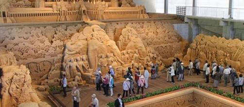 Réplicas de las increíbles obras de arte en arena
