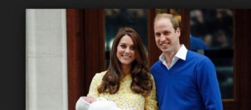 William e Kate con la piccola Charlotte