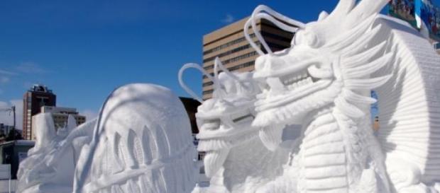 Escultura para la competencia del festival