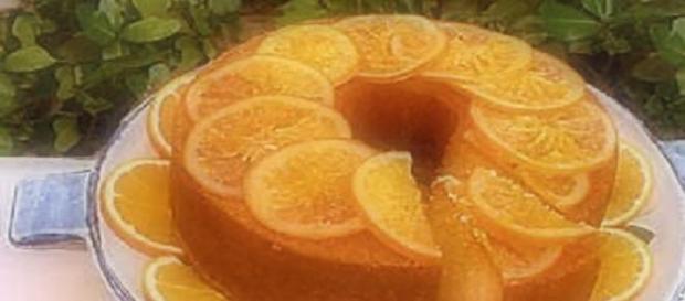 torta al gusto di arancia.