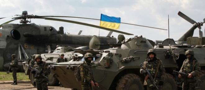 Armée Ukrainienne en opération dans l'Est du pays