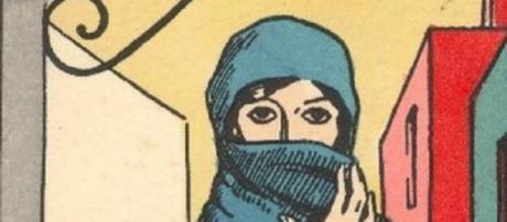 Burqa algarvia utilizada no século XIX