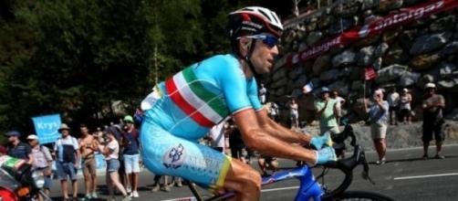 Vincenzo Nibali all'attacco