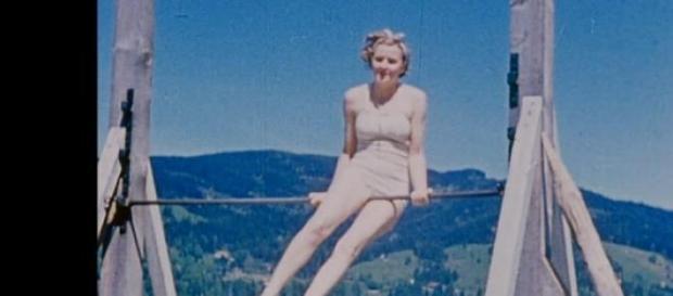 Partnerka Hitlera, Ewa Braun uprawia fitness
