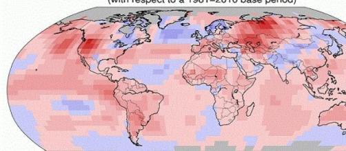 Anomalía de temperatura del mes de junio de 2015