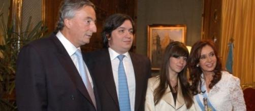 La familia Kirchner en 2007