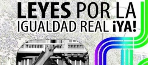 Leyes por la igualdad real, ¡YA! Lema 2015.