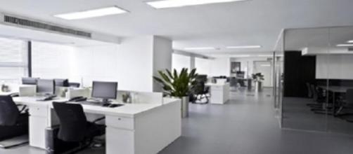 Oficina vacía sin actividad
