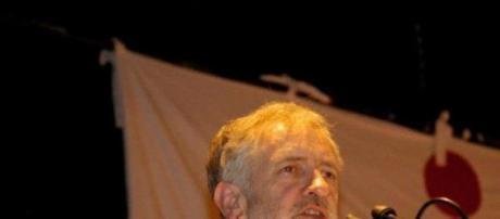 Jeremy Corbyn at a debate