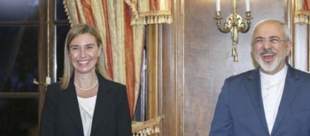 I ministri degli esteri europeo ed iraniano.