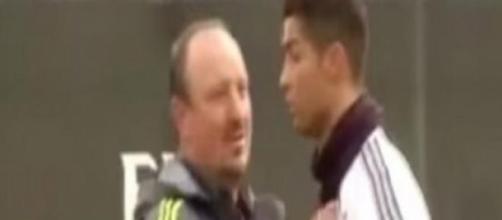 Benitez e Ronaldo durante allenamento